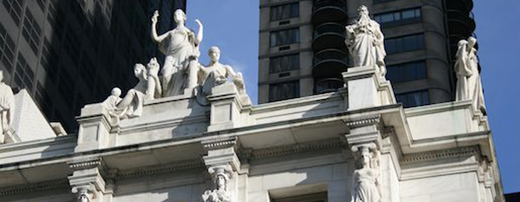 Sher Tremonte News Page, Image of Courthouse Roof Pediment